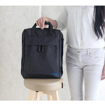 Mori Travel Bag Backpack Notebook Bag กระเป๋าเป้สะพายหลัง กระเป๋าเป้ กระเป๋าจัดระเบียบเสื้อผ้า (Black/สีดำ)