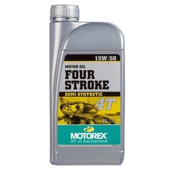 Motorex น้ำมันเครื่องสังเคราะห์ FOUR STORK 4T SAE 15W/50 (1L.)