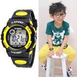 Multifunction กันน้ำเด็กกีฬาเด็กหญิงเด็กชายอิเล็กทรอนิกส์นาฬิกาข้อมือสีเหลือง (MY) - INTL