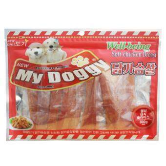 My Doggy - อกไก่นุ่ม (ไก่งวง) Soft Chicken Jelly Slices 300g from Korea