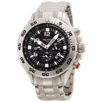 ประเทศไทย Nautica Men s N19508G NST Stainless Steel Watch (Silver)