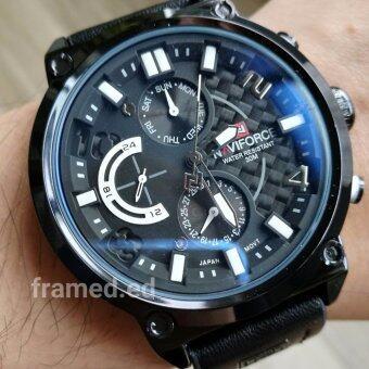 NAVI FORCE นาฬิกาข้อมือผู้ชายสายหนัง รุ่น NF99L สายหนังสีดำ รุ่นพิเศษ