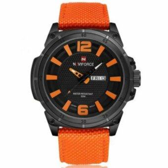 NAVIFORCE นาฬิกาข้อมือผู้ชาย สายผ้าสีส้ม รุ่น NF9066M