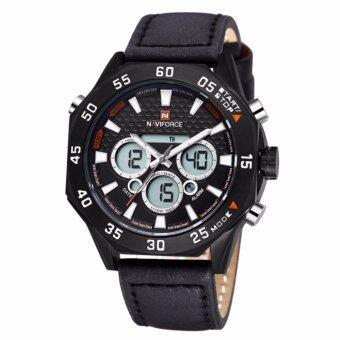 ราคา NAVIFORCE นาฬิกาข้อมือผู้ชาย สายหนัง NF9043M สีดำ