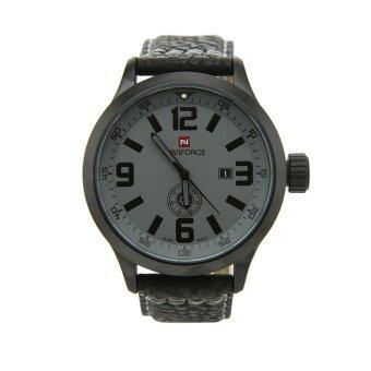 ประเทศไทย NAVIFORCEนาฬิกาข้อมือผู้ชาย สีดำ หน้าปัดสีเทา สายหนัง รุ่นNF9057-GREY