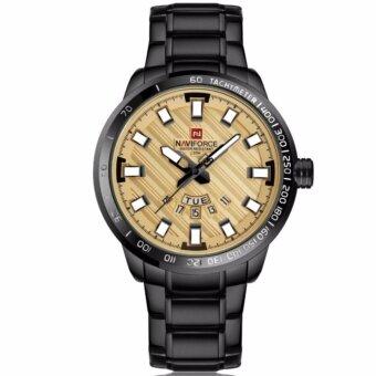 2561 NAVIFORCE นาฬิกาข้อมือชาย รุ่น NF9090 หน้าปัด ROSE GOLD เรือนดำ