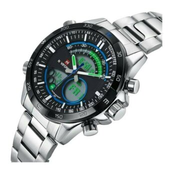 ประเทศไทย NAVIFORCE WATCH นาฬิกาข้อมือผู้ชาย เครื่องญี่ปุ่น กันน้ำ100% สายแสตนเลสแท้ รุ่น NF9031WBLL