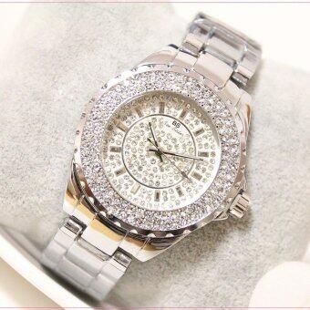 New 2017 Fashion Casual Clock Silver Bracelet Watch WomenRhinestone Watches Women's Elegant Quartz Wrist Watch Relojes Mujer