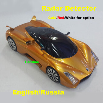 New Arrival Alloy Metal Car Radar Detectors Laser Anti Radar in LED\nDisplay English Russia Audio Alert Hong Post Free Shipping