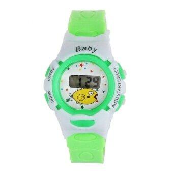 New Boys Girls Students Time Electronic Digital Wrist Sport Watch Green - intl