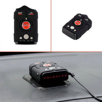 New V8 360 Degree Car Radar Detector 16 Band Russia/English version\nLED Display Anti Radar Detector XK NK Ku Ka Laser hot sale~