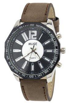 ประเทศไทย NS WATCH นาฬิกาข้อมือชาย รุ่น MUGE-MG031 Dark-Brown