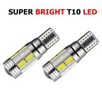 ซื้อ OMC หลอด LED ไฟหรี่ ขั้วเซรามิก T10 2 ชั้น แสงสีขาว 1 คู่ (WHITE )