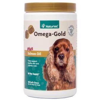 Omega-Gold Plus Salmon Oil (180 SoftChews) วิตามินบำรุงขนและผิวสุนัข เน้นขนสวย เงางาม แก้ขนร่วง