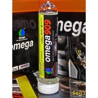 Omega909 ขนาด 45 ซีซี.จำนวน 1 หลอดหัวเชื้อเพิ่มประสิทธิภาพน้ำมันเครื่องโอเมก้า909 สำหรับเครื่องยนต์เบนซินและดีเซล