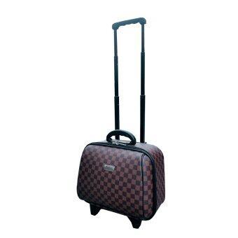 Onebagshop กระเป๋าเดินทางล้อลากรุ่นมินิ CodeK243 size 14 นิ้ว[ตารางน้ำตาล]