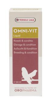 Oropharma ออมนิวิท วิตามินบำรุงและคลายเครียดอุดมด้วยวิตามินและอะมิโนเอซิด นก ใช้ผสมน้ำ/ อาหารนก มาคอว์ นกปากขอนกแก้ว นกพาราคีท นกริงค์เน็ค หงษ์หยก อาฟริกันเกรย์ อีเล็คตัสไฮยาซินท์ นกกรงหัวจุก นกปรอดหัวจุก นกร้อง นกแข่ง Omini-Vit Bird,30ml.