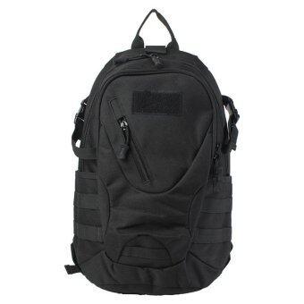 กลางแจ้งกันน้ำ 20ลิตรการแคมป์ทหารทางยุทธวิธีกระเป๋าเป้กระเป๋าสะพายเป้เดินป่าสีดำ