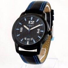 Overfly EYKI นาฬิกาข้อมือผู้ชาย สีน้ำเงิน สายหนัง รุ่น BW-00M