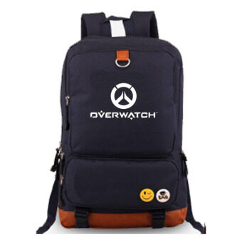 Overwatch Noctilucent Laptop Backpack Canvas Bag Hiking DaypacksShoulder Bags(Blue)