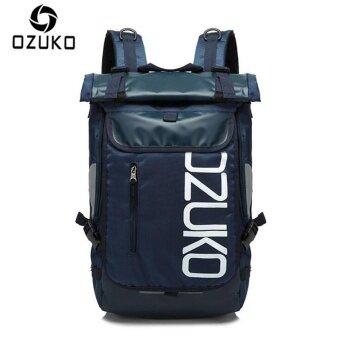 OZUKO กันน้ำ Oxford 15 นิ้วกระเป๋าเป้สะพายหลังแล็ปท็อปขนาดใหญ่ความจุ กระเป๋าสะพายหลังธุรกิจกระเป๋าเดินทางลำลองกระเป๋าแฟชั่นกลางแจ้ง กีฬากระเป๋า