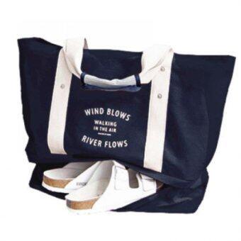 ต้องการขาย PACRO กระเป๋าสะพายข้างมีช่องใส่รองเท้าด้านล่าง-สีน้ำเงิน