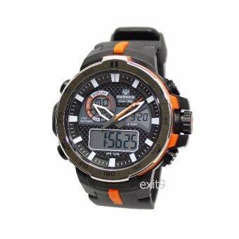ราคา PASNEW LAPGO นาฬิกาข้อมือผู้ชาย สีดำ/สีส้ม สาย เรซิน รุ่น PSE-460