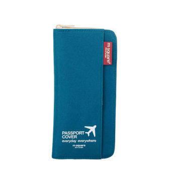 Passport Cover Travel Wallet Document Passport Holder Organizer Cover Women Business Card ID Bag(Blue)