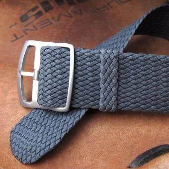 ซื้อ/ขาย สายนาฬิกา Perlon European Grade Dark Grey Sandblasted Buckle สีเทาเข้ม หัวแบบขัดด้าน 20mm