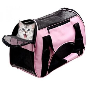 Pet Carriers For Dog  Cat Comfort Airline Approved Travel Tote Soft Sided Shoulder Bag with Mat - Under Seat Compatability - intl