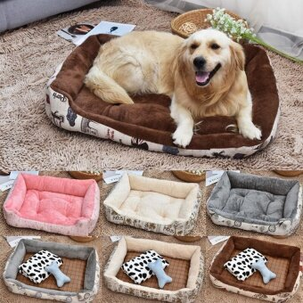 Pet Cushion Mat Warm Dog Mattress Pad for PetHouse/Kennels/Cage/Crate/Bed (XS) - intl