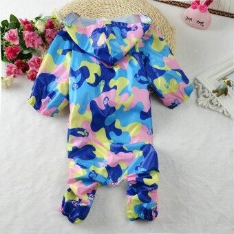 Pet Dog Clothes Camouflage Raincoat Hoodie Hooded Rain Coat Small Dogs Pet - intl