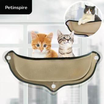 ต้องการขายด่วน PetInspire เปลแมว หมา สุนัข แสนอบอุ่น ที่นอนสัตว์เลี้ยงยึดติดกับหน้าต่าง สีเบจ Cat's Cradle Bed Cat Window Mounted Pet (Beige/สีเบจ)