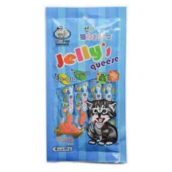 ขนมแมว Petto Tomodachi Jelly's Queese ขนมแมวเลีย รสทูน่า 10 ซอง