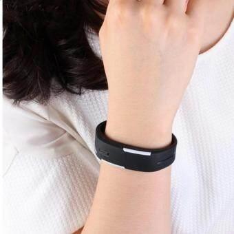 2560 Poca Watch นาฬิกาข้อมือ LED สีดำ สายเรซิ่น กันน้ำได้ 1อ้น