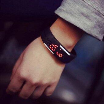Poca Watch นาฬิกาข้อมือ LED สีดำ สายเรซิ่น กันน้ำได้ ซื้อ 1 แถม1มุลค่า89บาท - 3