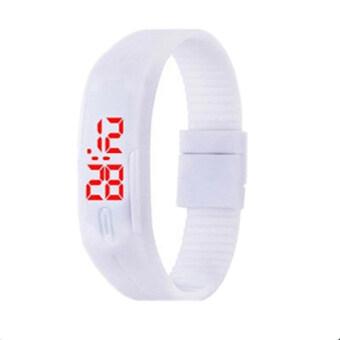 Poca Watch นาฬิกาข้อมือ LED สีขาว สายเรซิ่น