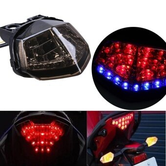 Harga Possbay 1Pcs LED Smoke Tail Light Brake Turn Signal For Kawasaki Ninja 250R - intl
