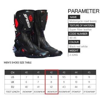 Pro-biker Waterproof Racing Gear Footwear Motorcycle Boots Cycling Shoes-42 - intl