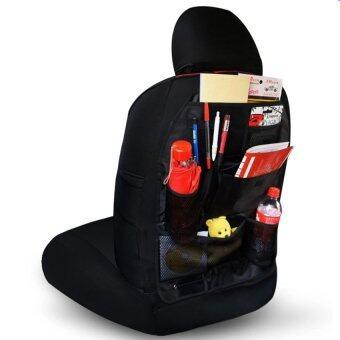 กระเป๋าใส่ของหลังเบาะรถยนต์ ที่เก็บของหลังเบาะรถยนต์ (ดำ)