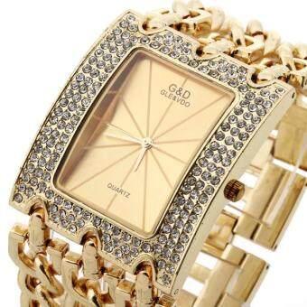 สายโซ่ผู้หญิงผสมระบบควอตซ์นาฬิกาข้อมือ (ทอง) (image 3)