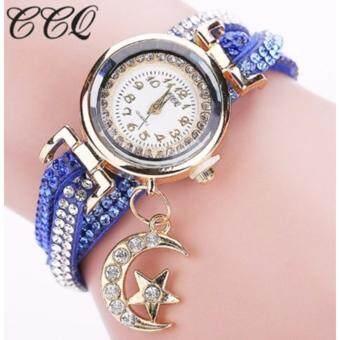 ซื้อ/ขาย นาฬิกาแฟชั่น สีน้ำเงิน สายและหน้าปัดประดับด้วย หิน เรนสโตน