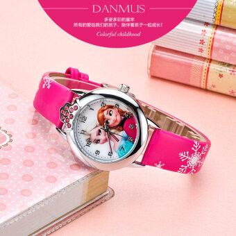 น่ารักเด็กสาวสาวนาฬิกาอิเล็กทรอนิกส์กันน้ำเด็กนาฬิกา