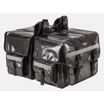 กระเป๋าคู่ข้างรถจักรยานยนต์ขนาดใหญ่ ผ้ากันน้ำ ความจุสูง ใส่หมวกกันน็อคได้