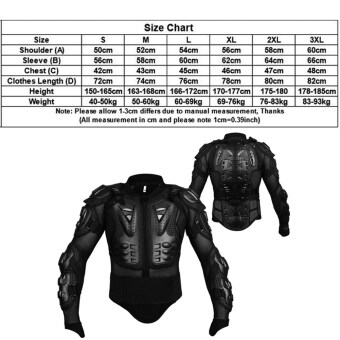 ... Professional Motocross Off Road Protector Motorcycle Full BodyArmor Jacket Protective Gear Clothing intl
