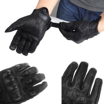 ประกาศขาย ขี่รถจักรยานยนต์ Protectie เกราะหนังสั้นหนังสั้นสีดำ (ดำ) (ตาข่าย)(XL)