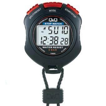 QQ นาฬิกาจับเวลา สีดำ/แดง รุ่น HS47J003Y