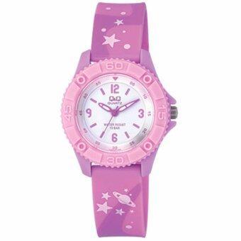 ราคา Q and Q นาฬิกาข้อมือเด็ก สีม่วง สายยาง รุ่น VQ96J020Y