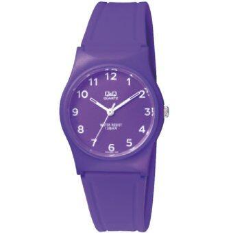 ซื้อ/ขาย QQ นาฬิกาข้อมือ ใส่ได้ทั้งชายและหญิง กันน้ำได้ รุ่น QQVP34J068Y สี ม่วง