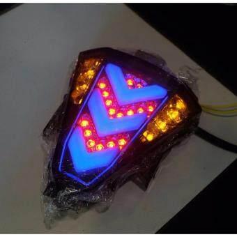 ไฟท้ายแต่ง (ไฟเบรค+ไฟเลี้ยว) R-15 (LED) VERSION 2 สีน้ำเงิน